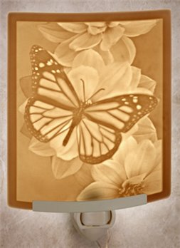 Butterfly Night Light by Porcelain Garden