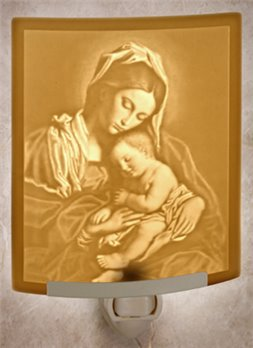 Madonna And Child Night Light by Porcelain Garden
