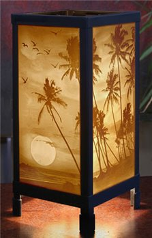 Tropical Sunset Luminaire by Porcelain Garden