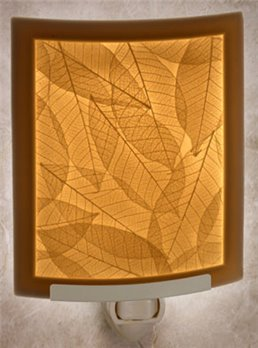 Leaf Veins Night Light by Porcelain Garden