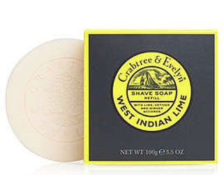 Crabtree & Evelyn West Indian Lime Shave Soap Refill (3.5 oz, 100g)