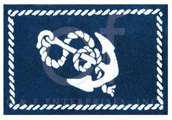 Knotty Buoy Anchor Washable Rug