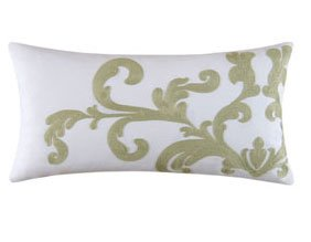 Providence Cucumber Chain Stitch Scroll Pillow