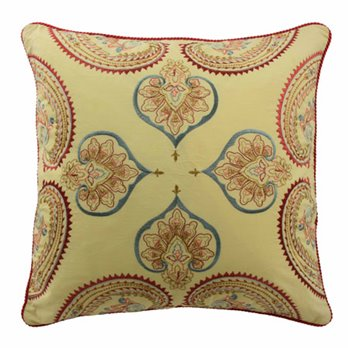 Waverly Swept Away 18 inch Embroidered Decorative Accessory Pillow