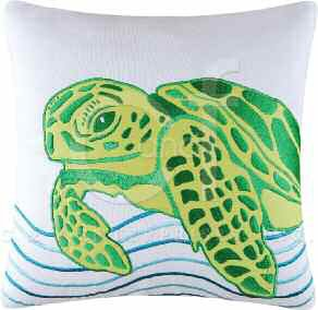 Tropic Escape Turtle Pillow