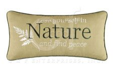 Althea Embroidered Nature Pillow
