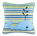 Striped Whale Pillow