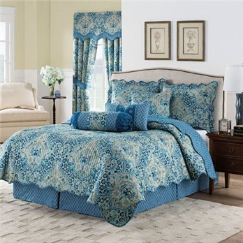 Waverly Moonlit Shadows King 4-Piece Reversible Quilt Collection