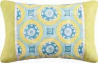 Delilah Blue Rectangular Pillow
