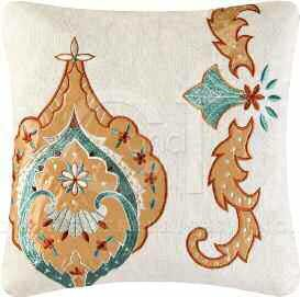 Mandalay Embroidered Square Pillow
