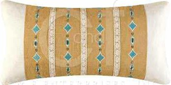 Mandalay Crochet & Embroidered Pillow