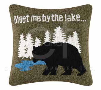 Gibson Lake Hooked Pillow
