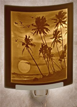 Tropical Sunset Night Light by Porcelain Garden
