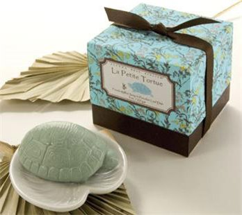 Gianna Rose Turtle Soap on Lily Pad Dish