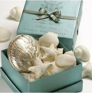 Gianna Rose Sea Shell Soaps in Polished Abalone Shell (4 soaps)