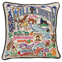 Hill Country Embroidered Pillow