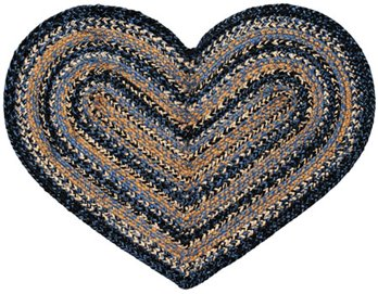 River Shale Heart Rug 20 X 30