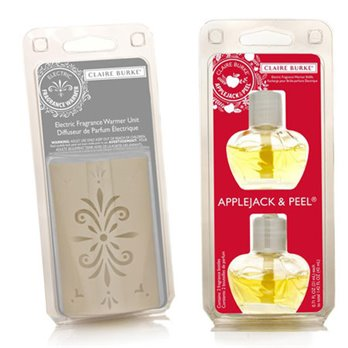 Claire Burke Applejack & Peel Fragrance Warmer Refill Pack Plus Warmer Unit Set