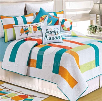 Zuma Bay Full Queen Quilt