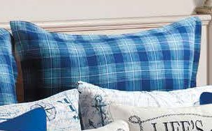 Fair Winds Plaid Euro Sham