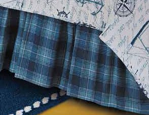 Fair Winds Plaid Queen Bedskirt