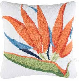 Sabrina Bird of Paradise Hooked Pillow