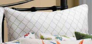 White Lattice Euro Sham