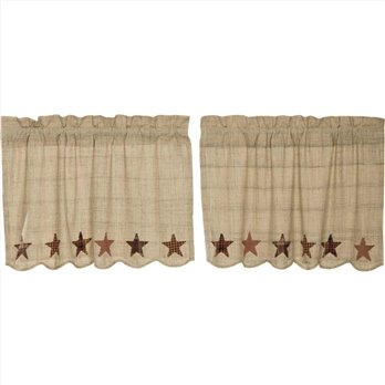 Abilene Star Swag Set of 2 24 x 36