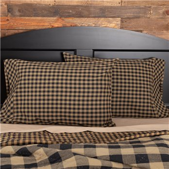 Black Check Pillow Case Set of 2