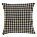 Black Check Fabric Pillow & Insert 16x16