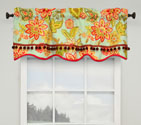 Charismatic Honeysuckle Lined Window Valance