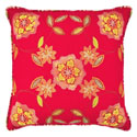 Charismatic Honeysuckle 20 x 20 Embroidered Decorative Pillow