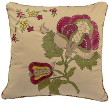 Imperial Dress Antique Embroidered Pillow