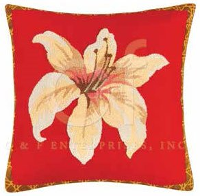 Lily Garden Tufted Pillow