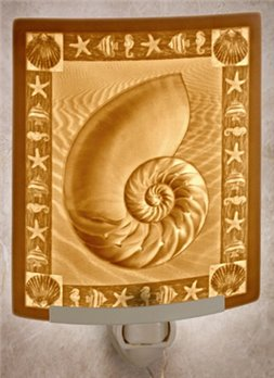 Nautilus Night Light by Porcelain Garden