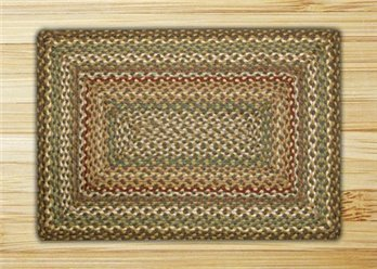 Fir Tonal Rectangle Braided Rug 20