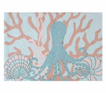 Saltwater Serenity Octopus Washable Rug
