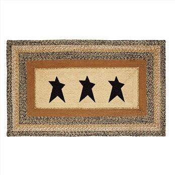 Kettle Grove Jute Rug Rectangular  Stencil Star 36x60