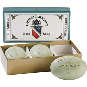 Caswell-Massey Greenbriar Bath Soap box of 3 (3 x 5.8 oz.)