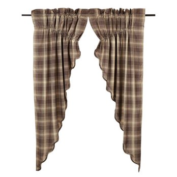 Dawson Star Scalloped Prairie Curtain Lined Set-2 63x36x18