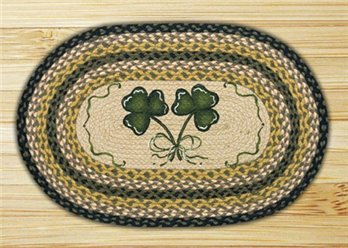 Shamrock Braided and Printed Oval Rug 20