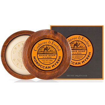 Nomad Shave Soap in Wooden Bowl by Crabtree & Evelyn (100g)