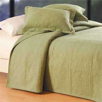Sage Quilted Matelasse Twin Quilt