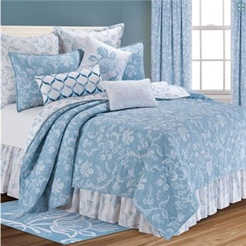 Eliza Lace Blue King Quilt