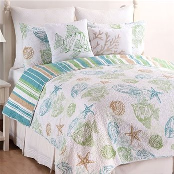 Reef Point Full Queen 3 Piece Quilt Set