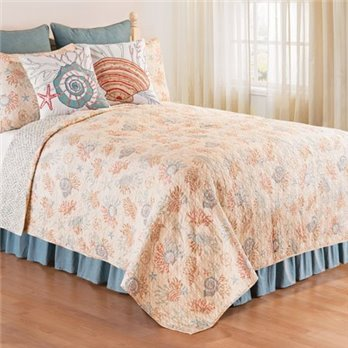 Seabrook Full Queen 3 Piece Quilt Set