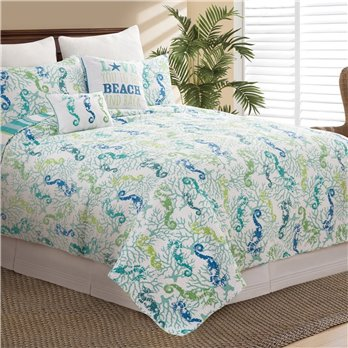 Aquarius Full Queen 3 Piece Quilt Set