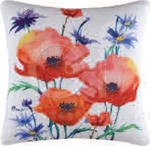 Veranda Poppies Pillow