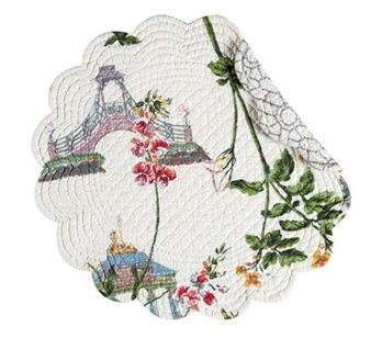 Garden Folly Round Quilted Placemat