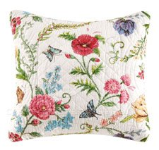 The Embroidered Garden Quilted Pillow